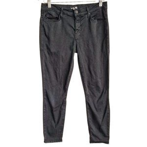 MOTHER 'The Looker' Cropped Black Skinny Jeans